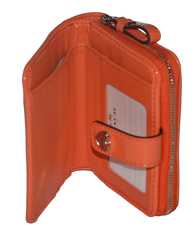 Coach Women's Prf Liquid Gloss Zipper Medium Wallet F51678 (ORANGE)