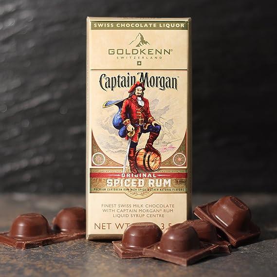 Goldkenn Captain Morgan Liqueur Chocolate Bar 100g: Amazon.es ...