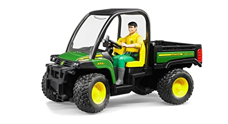Amazon Com Bruder John Deere Gator Xuv 855d With Driver Toys Games