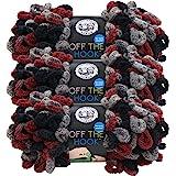 (3 Pack) Lion Brand Yarn 516-211 Off The Hook Yarn, Dark & Stormy