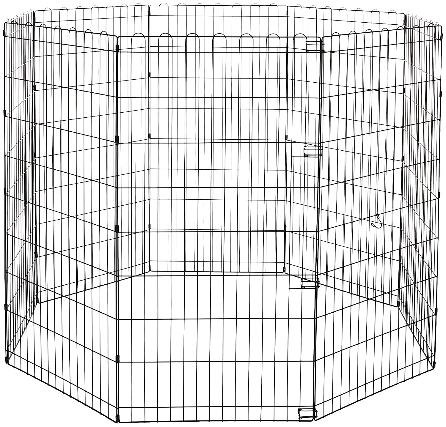 AmazonBasics Foldable Metal Pet Exercise and Playpen 48-Inch