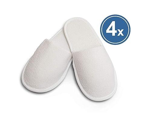 Carenesse zapatillas de hotel de rizo XL, 4 pares, talla 42 – 46,