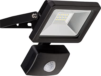 Goobay 58998 Reflector LED con Detector de Movimiento, 10 W, Negro, 8.4x15