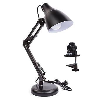 new design metal swing arm led desk lamp interchangeable base or c