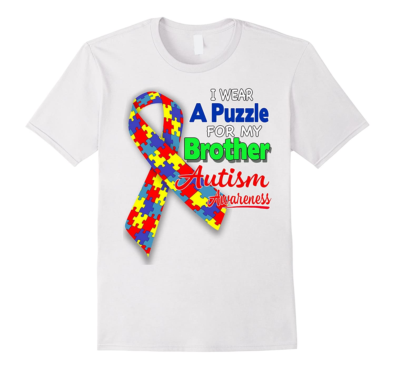 I Wear A Puzzle For My Brother Autism Awareness Shirt Td Teedep