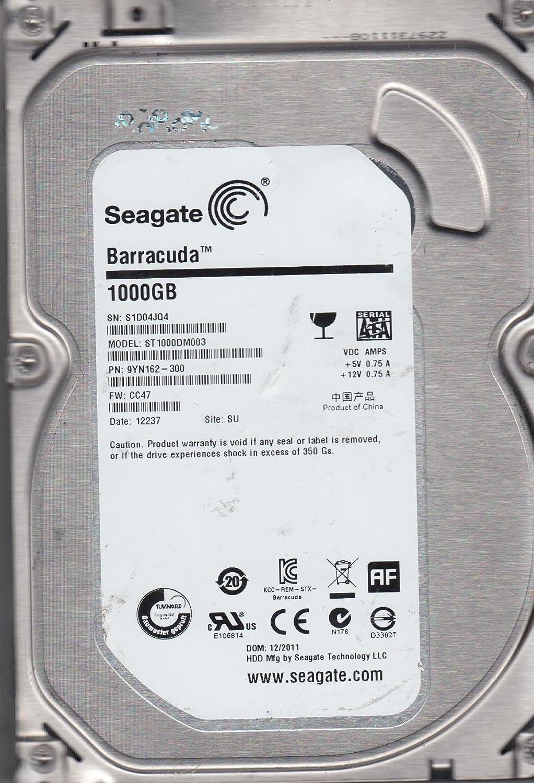 ST1000DM003, Z1D, TK, PN 1CH162-510, FW CC47, Seagate 1TB SATA 3 5 Hard  Drive