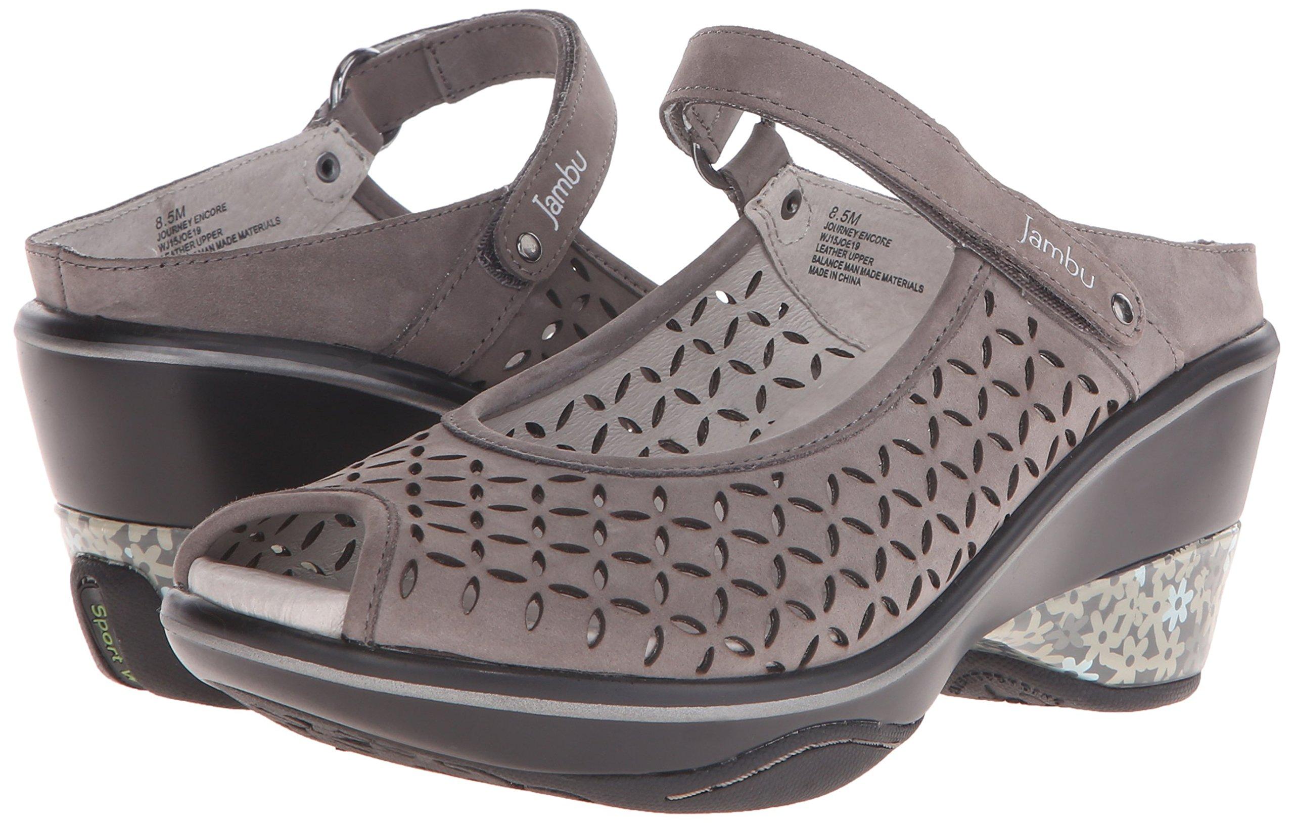 Jambu Women's Journey Encore Wedge Sandal, Dark Grey, 10 M US by Jambu (Image #6)