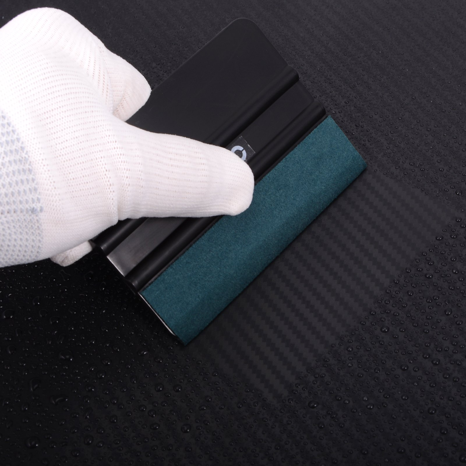 FOSHIO Car Wrap Application Kit include 4 Inch Film Squeegees, Wool squeegee, Vinyl Cutters, Tint Magnet holders, 3 Kinds of Squeegee Felts, Gloves by FOSHIO (Image #6)