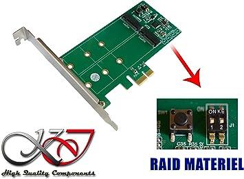 Kalea Informatique – Tarjeta controladora PCIe 2.0 para 2 x ssd M2 ...