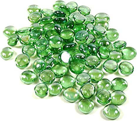 Wedding Landscaping 2 Pounds, Approx 200 pcs Color: Amber Pebbles Crystal Rocks Party Table Scatter WGV Flat Marbles Aquarium Decor Decoration Glass Gems for Vase Fillers