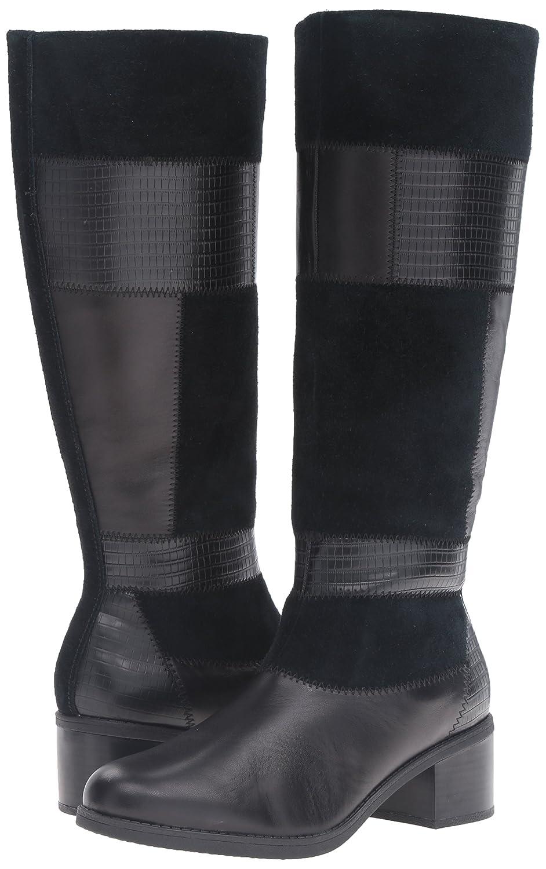 CLARKS Woherren Nevella Nova Riding Stiefel schwarz Multi Leather Leather Leather 8.5 M US 368cdb