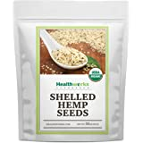 Healthworks Shelled Hemp Seeds Organic (32 Ounces / 2 Pounds) | Premium & All-Natural | Canadian or European Sourced…
