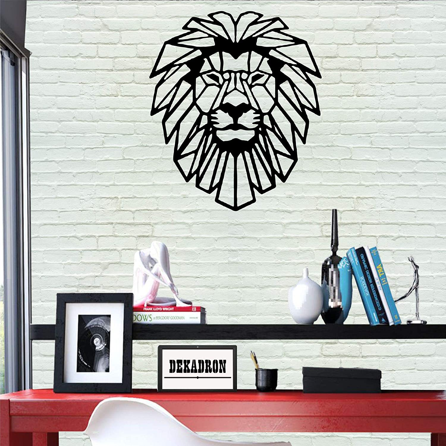 "Metal Wall Art - Lion Head - 3D Wall Silhouette Metal Wall Decor Home Office Decoration Bedroom Living Room Decor Sculpture (21"" W x 24"" H/51x61cm)"