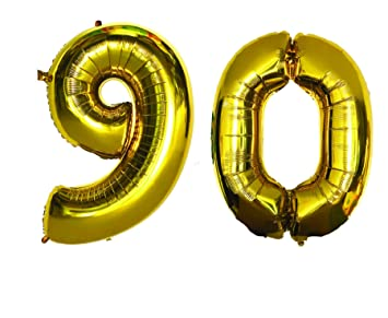 Happy 90th Birthday Decorations Banner Set Comes With Large 40quot Inch 90 Number Foil