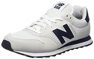 64bd859a7f1d5 new balance Men's 500 (White/Navy) Sneakers-9 UK/India (43 EU)(9.5 ...
