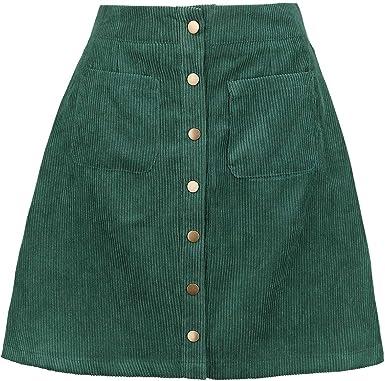 Banned Mini Falda de Pana Tipo Años 60 - Naranja Caldera S ...