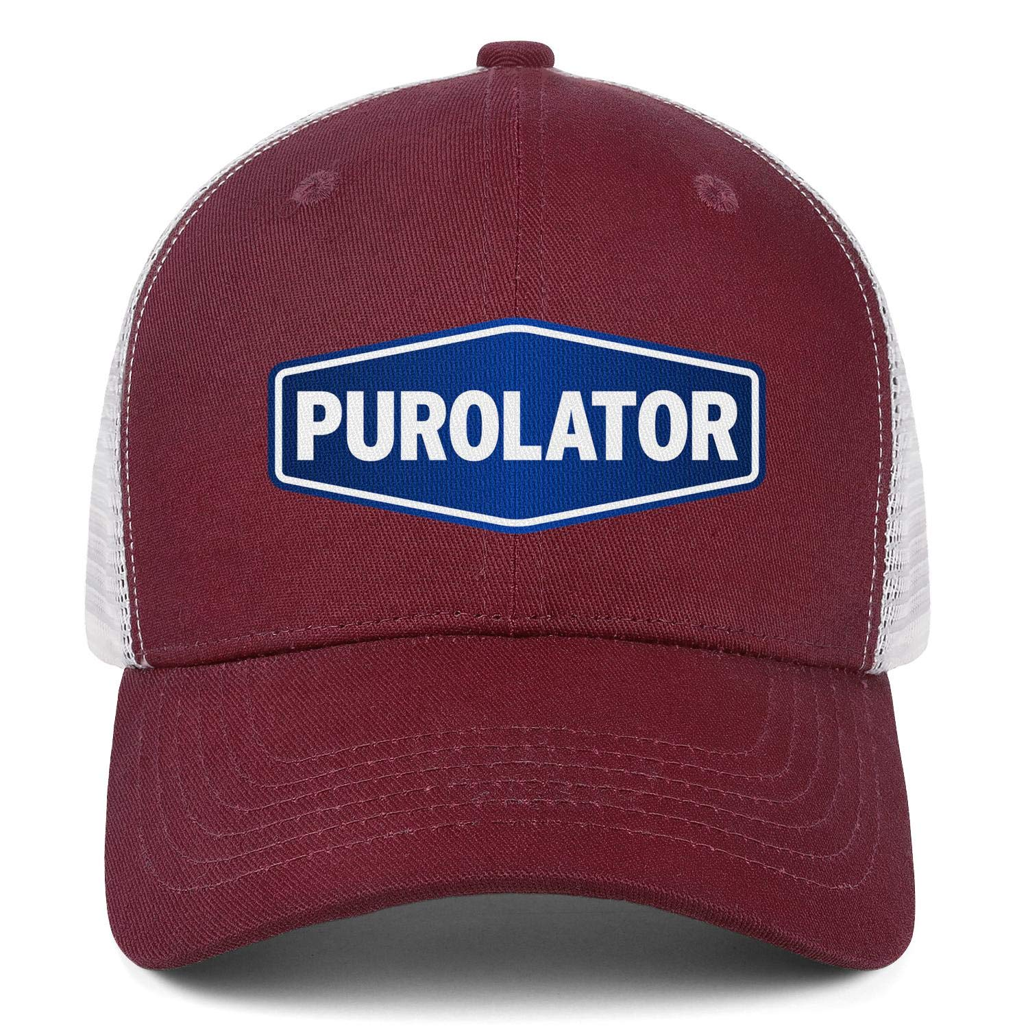 COOLGOOD Purolator-Logo Mens Womens Mesh Back Baseball Hats Luxury Mesh Cap