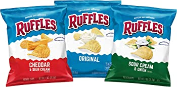 40-Count Ruffles Potato Chips Variety Pack