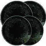 Range Kleen 5056 Embossed Burner Kover, Black, Set of 4