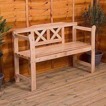 Beschichtete Holzbank 3 Sitzer Aussenbereich Mobel Mobelstuck