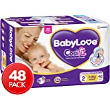 BABYLOVE Cosifit Infant Nappies 3-8kg (48 pack x 2), Infant, 2 count.