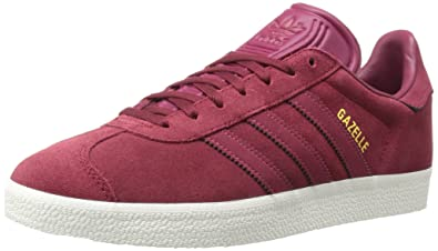 adidas Originals Gazelle Sneaker,Collegiate Burgundy/Mystery Ruby/Metallic  Gold,5 Medium