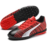 Puma Kids-Unisex ONE 5.4 TT Jr Black-Nrgy Red-P