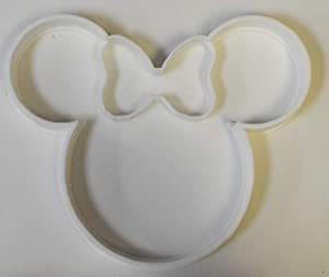 MINNIE MOUSE HEAD WITH BOW CHARACTER SPECIAL OCCASION COOKIE CUTTER BAKING TOOL 3D PRINTED MADE IN USA PR308