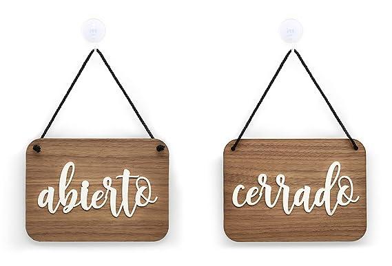 3DP Signs | Shabby Chic - Abierto Cerrado Cartel Doble Cara ...