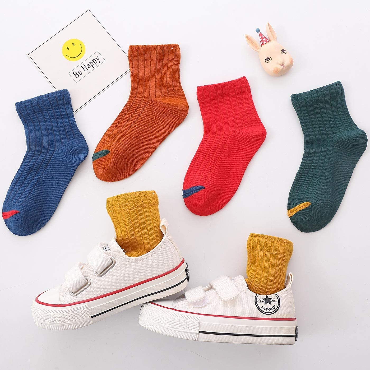 HAPPY CHERRY Boys Calf Socks Multicolour Mehrfarbig 1 1-3 Age