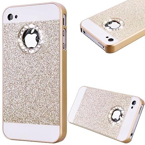GrandEver Coque Hard PC pour Apple iPhone 4S iPhone 4 Rigide Arrière  Glitter Bling Back Cover 83d5e9b9ef7
