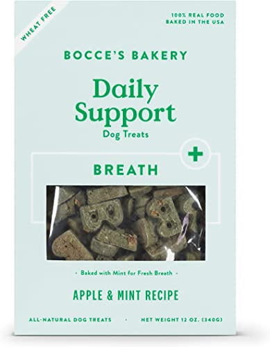 Bocce's Bakery Daily Support Breath Aid Apple & Mint Recipe Dog Treat
