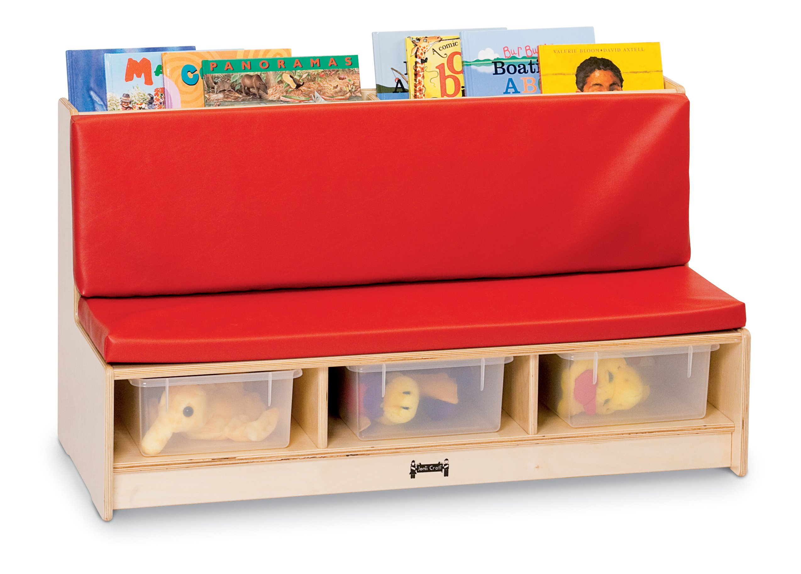 Jonti-Craft 37480JC Literacy Couch, Red