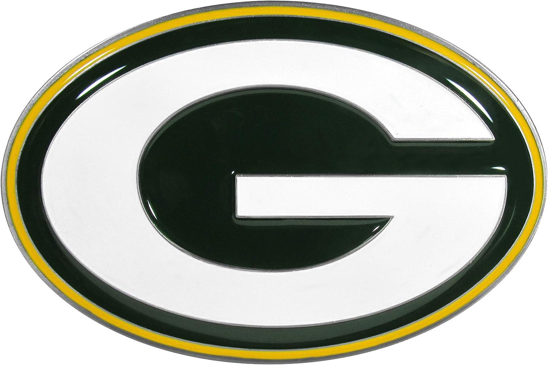 Siskiyou Sports NFL Green Bay Packers Large Logo Hitch Cover, Class II & III
