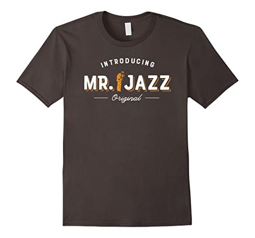 Mens Introducing Mr. Jazz - Original T-shirt 2XL Asphalt
