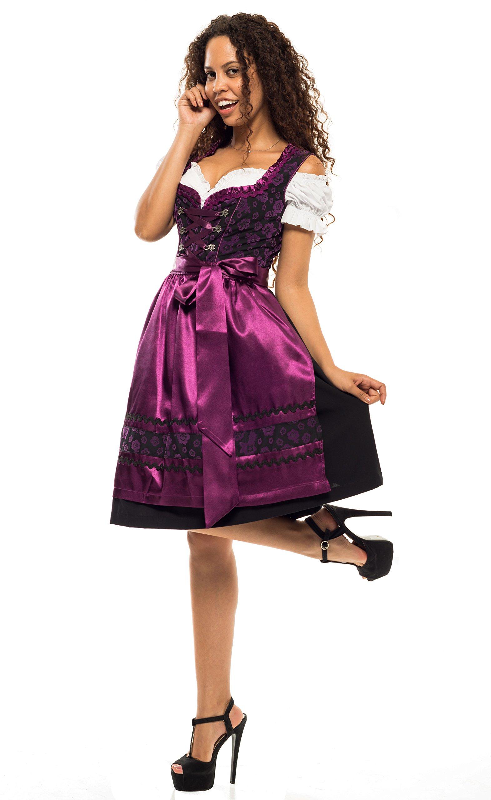 0527 Dirndl Germandress 3Tlg. Oktoberfest Gr.34 bis 52 !!ORIGINAL LIFOS!! (36)
