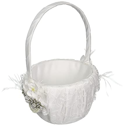 Amazon ivy lane design genevieve flower girl basket white ivy lane design genevieve flower girl basket white mightylinksfo