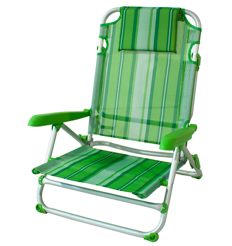 Joy Summer Spiaggina Alluminio Sedia Mare Spiaggia con 4 posizioni Verde