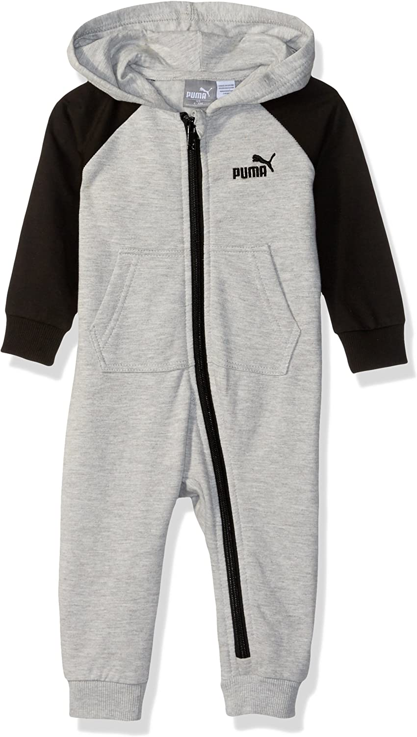 PUMA Baby-Boys Baby Fleece Coverall Footie