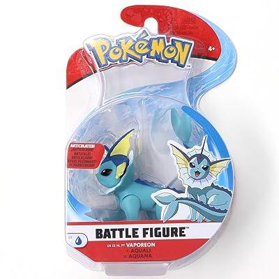 Pokémon Battle Figure Vaporeon 3 Inch Series 3 Single Pack: Toys & Games