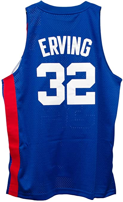 b25390bed9d Amazon.com   Julius Erving New York Nets Blue Adidas Soul Jersey ...