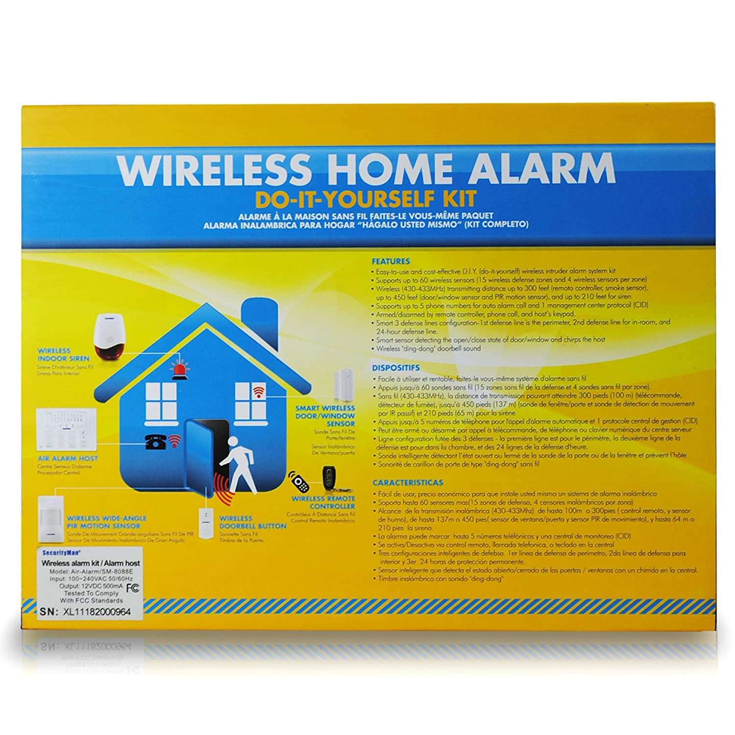 Securityman Airalarmii Wireless Smart Home Alarm System An Expandable Multi Zone Modular Burglar Kit With Doorbell White Security Systems Camera Photo