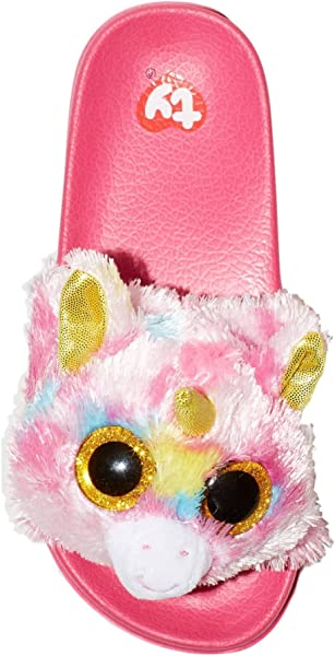 Ty Beanie Boo Beanie Boo Slide Flip Flop For Girls Fantasia Unicorn Sandal  Slide On (Medium Shoe Size 2 3). Ty Beanie Boo Beanie Boo Slide Flip Flop  ... c36b76d5d3d0