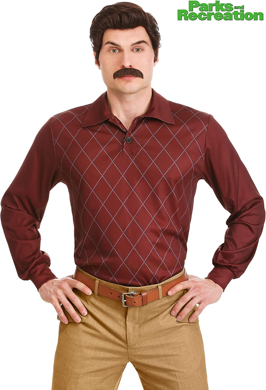 Ron Swanson Fancy Dress Costume Parks and Recreation Medium