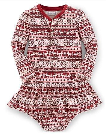 Amazon.com: Ralph Lauren Polo Baby Girls Fair Isle Holiday Dress ...