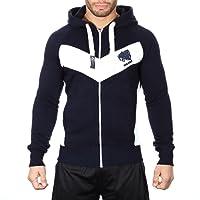 SMILODOX Slim Fit Kapuzenpullover Herren | Zip Hoodie für Sport Fitness Gym Training & Freizeit | Trainingsjacke - Sportpullover - Sweatshirtjacke - Kapuzenpulli