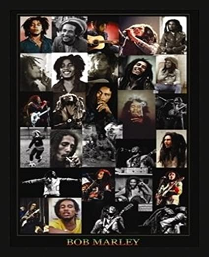 Amazon.com: 24x36 Bob Marley, Collage Black Art Print Music Poster ...