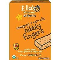 Ella's Kitchen 1岁+有机手指饼干,芒果+胡萝卜,5份(12盒)