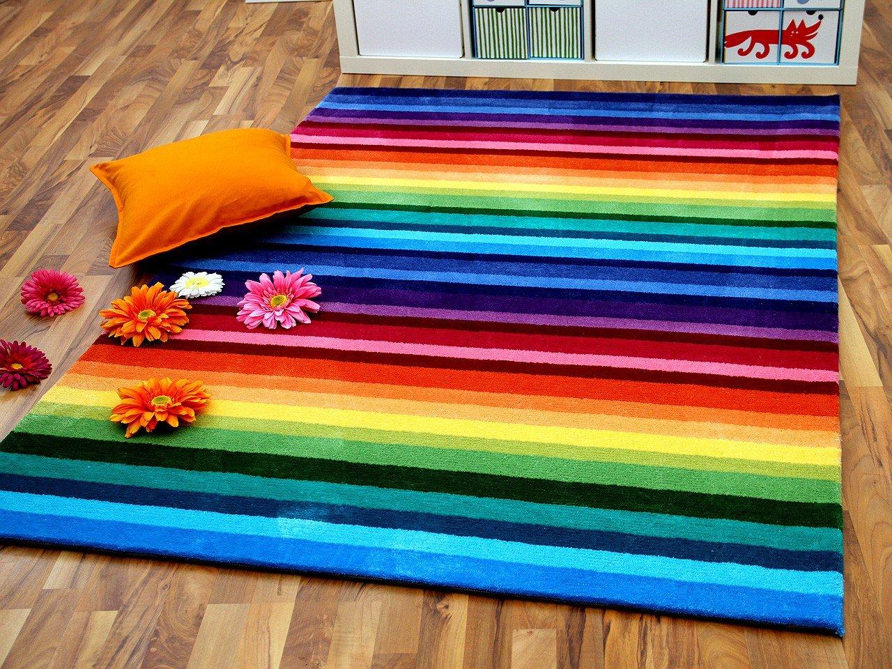 Lifestyle Kinderteppich Rainbow Bunt in 5 Größen     Sofort Lieferbar