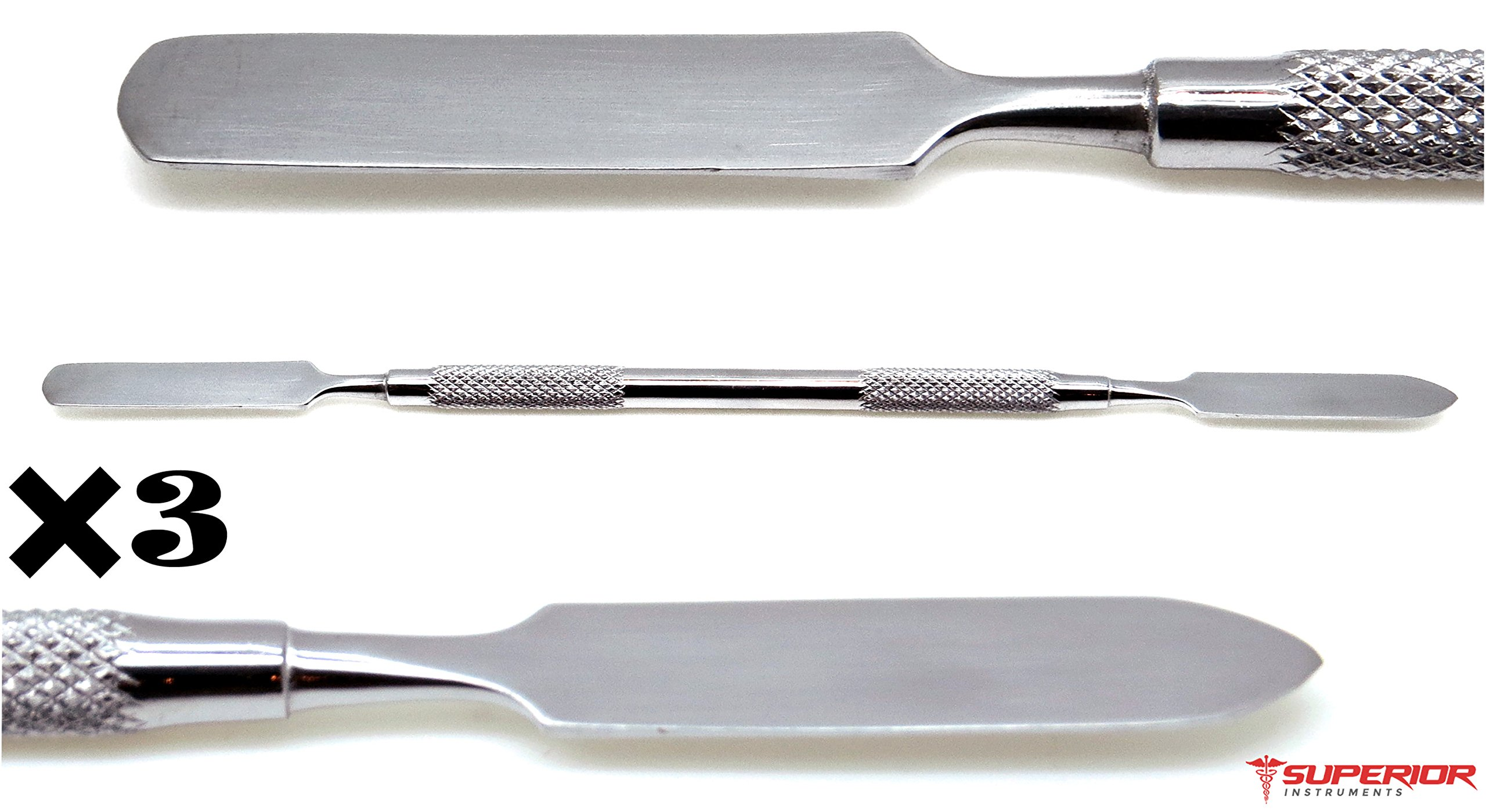Dental Cement Spatula Double Ended Wax Mixing Carvers Stainless Steel Lab 3 Pieces Instruments